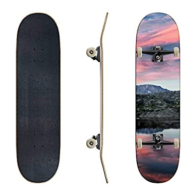 EFTOWEL Skateboards Seneca Lake in The Wind River Range Rocky Mountains Wyoming Views from Classic Concave Skateboard Cool Stuff Teen Gifts Longboard Extreme Sports for Beginners and Professionals : Sports & Outdoors