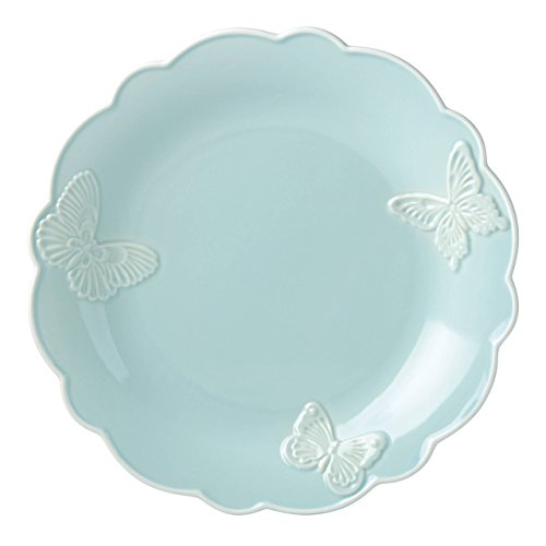 "Lenox Butterfly Meadow Carved Blue 11"" Dinner Plate"