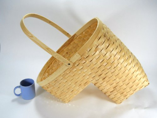 Woven wicker Stair Step Basket Medium (Rattan Step Basket)