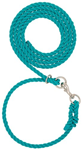Weaver Leather Livestock Livestock Adjustable Poly Neck Rope, Teal, 1/2