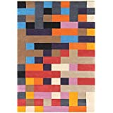 Alliyah Rugs Multicolored Wool 8-feet Wide x 10-feet Long Rug