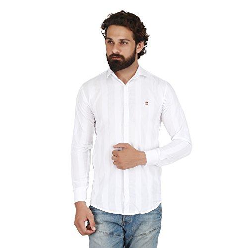 BIS Creations Men #39;s Casual White Shirt