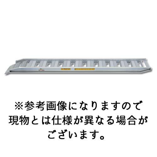 【日軽金アクト】PXブリッジ(ベロ式フックタイプ) 全長3000x有効幅400(mm) 最大積載2.0t/セット(2本) [PXF20-300-40] B07H4G7M7D