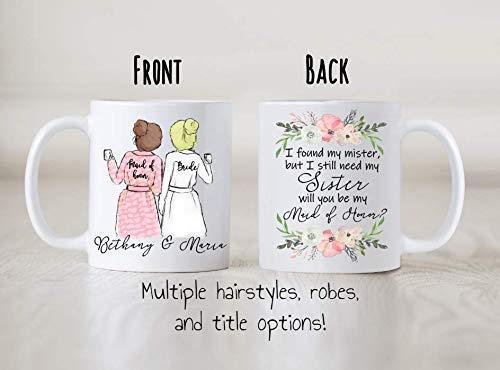 I found my mister but I still need my sister, Custom Bridesmaid mug, personalized bridesmaid proposal gift, Maid of Honor, Bridesmaid mug