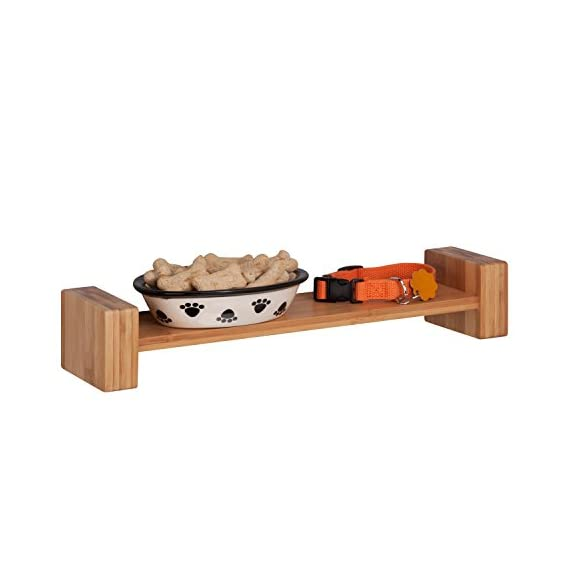 HoneyCanDo SHF-04396 Bamboo H Shape Wall Shelf - Adds decorative and functional touch to your wall Made of solid Bamboo construction Holds up to 15-poudns without failure - wall-shelves, living-room-furniture, living-room - 41qTXs3LV9L. SS570  -