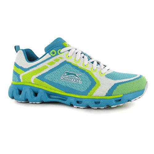 Slazenger Venture Knit Baskets pour femme Émeraude/WH Sneakers Chaussures de sport Chaussures