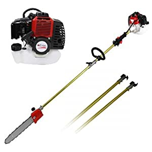2017 New 52cc Long Reach Pole Chainsaw Brush Cutter Whipper Snipper Pruner Line Tree with 2 extend pole Garden Tools