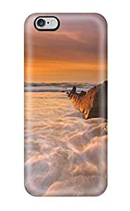 New Sunrise Beach Tpu Case Cover, Anti-scratch Aysyl2769SdZdD Phone Case For Iphone 6 Plus