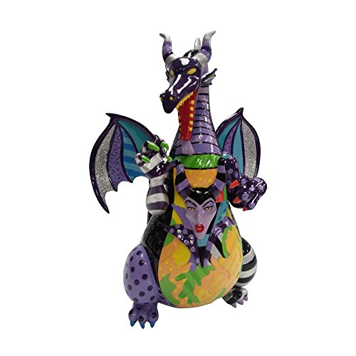 "Enesco Disney by Britto Maleficent Dragon from ""Sleeping Beauty"" Stone Resin - Maleficent Figurine"