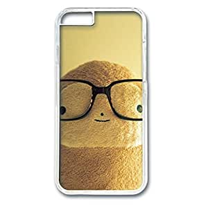 iCustomonline Glasses Monkey Skin Hard PC Transparent Case Cover Design for iPhone 6 (4.7 inch)