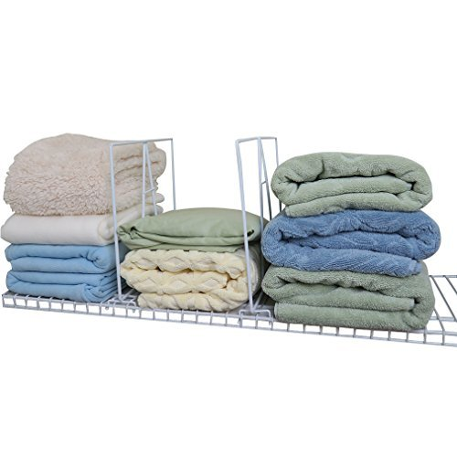 Evelots Closet Wire Shelf Divider-New & Improved-Separator-Easy Clip-Steel-Set/8 by Evelots