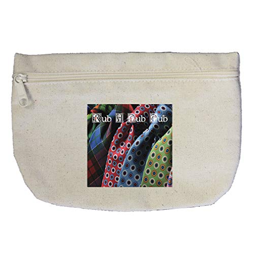 Rub A Name In Different Colored Clothes Cotton Canvas Makeup Bag
