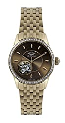 Rotary Women's lb90515/16 Analog Display Swiss Automatic Rose Gold Watch
