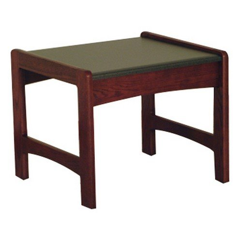 Wooden Mallet End Table with Black Granite Look Top, Mahogany by Wooden Mallet