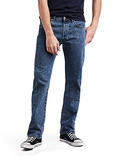 Levi's Men's 501 Original Fit Jean, Medium Stonewash, 32x30 5 Pocket Raw Denim