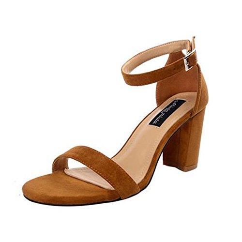 ante europeos de Sandalias Apricot moda mujer de tacones verano zapatos RUGAI color de UE de avwqnC