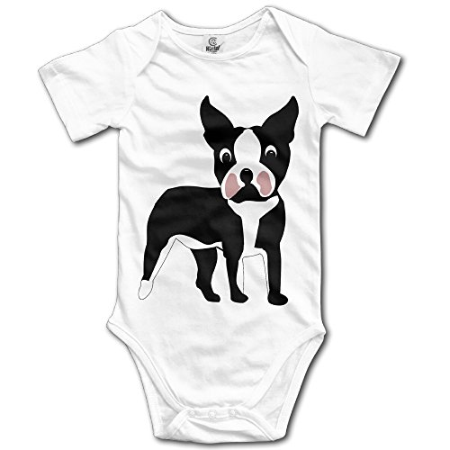 Unisex Baby Onesies Boston Terrier Cartoon Dog