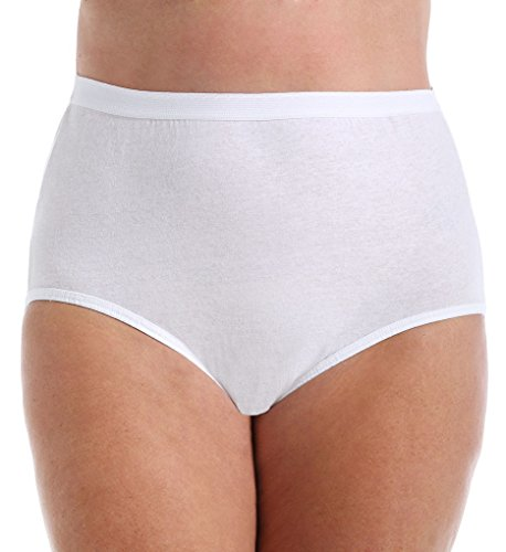 - Fruit of the Loom Fit for Me Plus Size Cotton Brief Panties - 3 Pack (3DBRWHP) 13/White