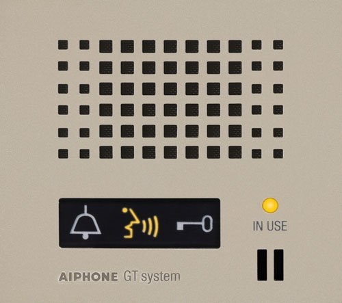 Aiphone Corporation GT-DP-L Audio Panel for GT Series, Multi-Tenant Intercom, Entrance Stations, Fire Retardant, ABS Plastic Construction, 4-5/16'' x 3-3/4'' x 5/16'', Beige by Aiphone Corporation