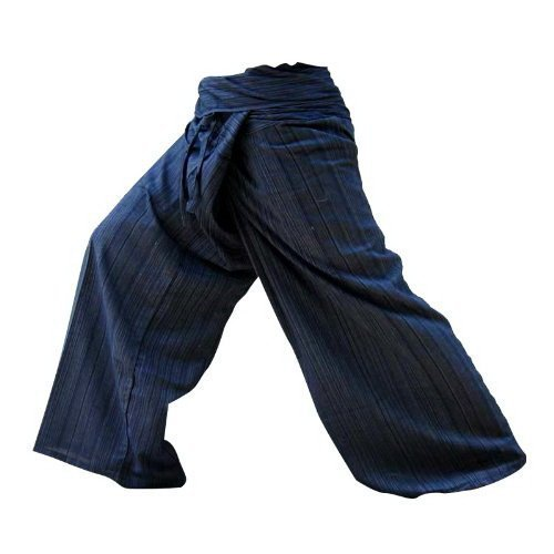 Thai Fisherman Pants Yoga Trousers Free Size Plus Size Cotton Dark - Oakley Jacket Sale Half