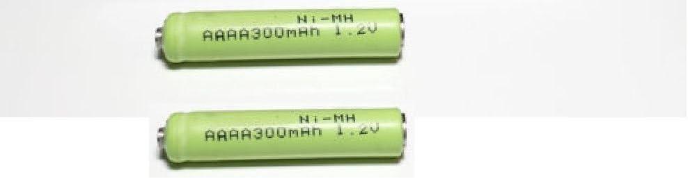 Button Top Battery, 2 Queentona AAAA Rechargeable