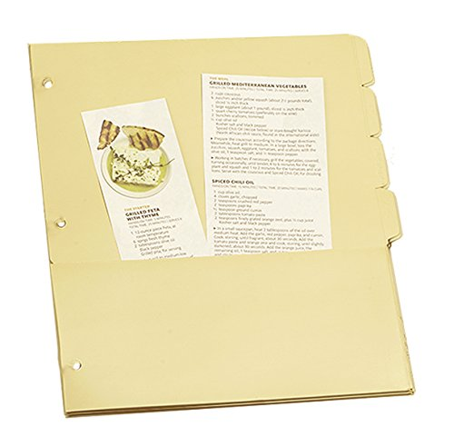 Meadowsweet Kitchens Pocketed Tab Dividers for 3 Ring Binders, Set of 8 (Kitchens Meadowsweet)