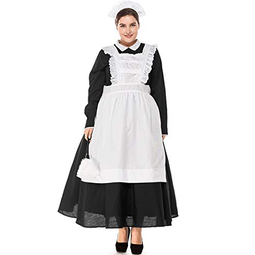 (Costume Black White Castle Maid Adult Traditional Philippine Maid Plays)
