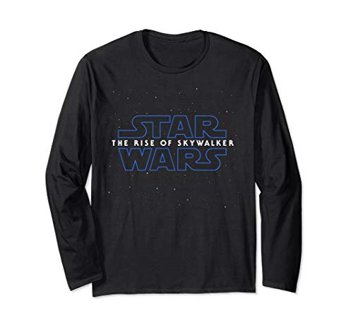 Star Wars The Rise Of Skywalker Episode 9 Movie Space Logo  Long Sleeve T-Shirt