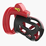 Plastic Lock Buckle cage Male Your Boy Can't Free from This Sturdy Setting with plastic D-è-v-íÇes Çh-à-s-tǐty Short L-ǒ-Ç-k M-ǎ-l-é Clear M-è-ń Small Ç-á-g-ê Plastic Lock Buckle cage Male (4 Rings),Chastity Device Chastity Lock Chastity cage Cock Cage Male Chastity Device Locked Cage Sex Toy for Men (A: Black+red)