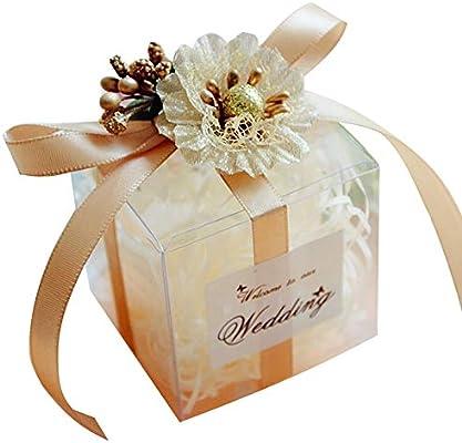 2019 nuevo Clear Square boda Favor caja de regalo pvc transparente ...