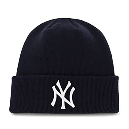 68f422a615d Image Unavailable. Image not available for. Color  New York Yankees 47 Brand  Raised Cuff Cuffed Knit Beanie Hat ...