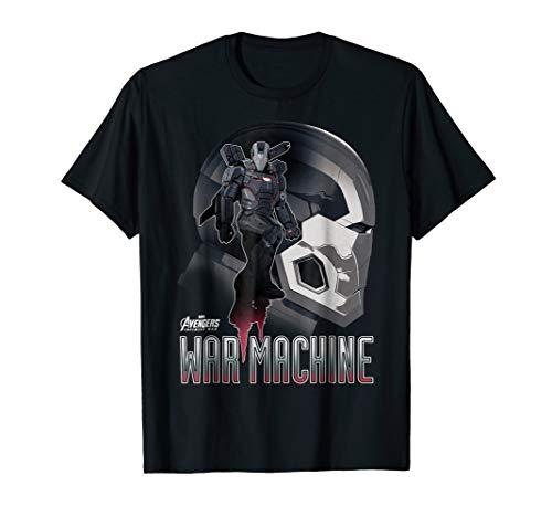 Marvel Infinity War War Machine Head Profile Graphic T-Shirt