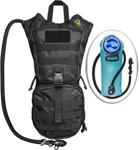 Hydration Pack with Leak Proof 2Liter Water Bladder - Keeps Your Fluids Cold and Stores all Your Gear - Lightweight, Waterproof and Fully Adjustable Backpack For Men and