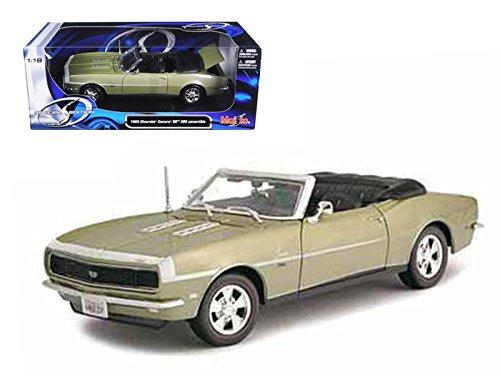 Maisto 31683 1968 Chevrolet Camaro SS 396 Convertible Gold 1/18 Diecast Model Car