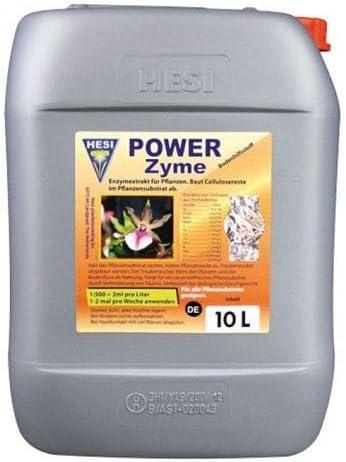 Fertilizante Estimulador Hesi Power Zyme Hongo Alimento Crecimiento para Cultivos de Cannabis y Marihuana. Mejora su Crecimiento y Floración. Aditivo. Producto CE. 10Litros