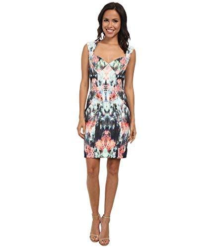 Nicole Miller Women's Canopy Neoprene Sweetheart Sheath Dress Multi Dress 10