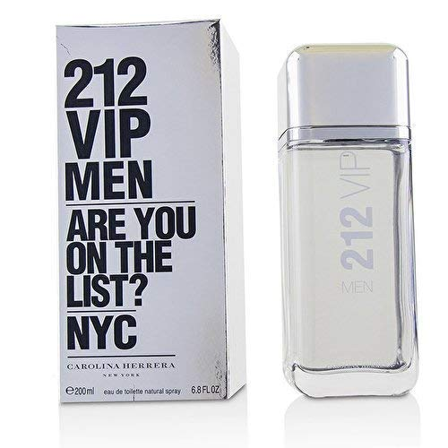Carolina Herrera 212 Vip Eau de Toilette Spray for Men, 6.75 ()