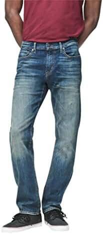 Aeropostale Men's Slim Straight Medium Wash Reflex Jean