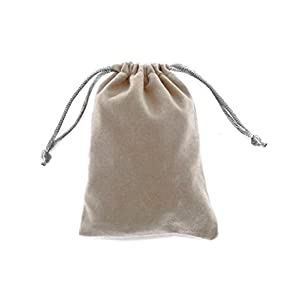 "Linpeng Jewelry Drawstring Pouch Velvet Gift Bags 3.5""x4.7"" 20Pack"