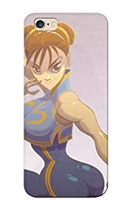 Design For Iphone 6plus 5.5 Premium Tpu Case Cover Video Games Street Fighter Artbook Chunli Artwork Protective Case