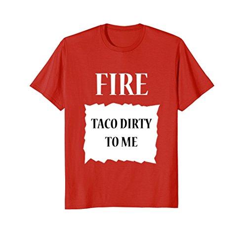 Mens Fire Hot Sauce Group Halloween Costume T-Shirt Large (Male Diy Costume Ideas)