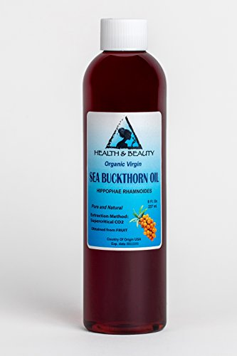Sea Buckthorn Oil Organic Unrefined Virgin Supercritical CO2 Extracted Pure 8 oz -