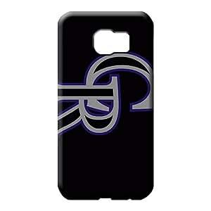 samsung galaxy s6 case Plastic Protective phone carrying covers colorado rockies mlb baseball