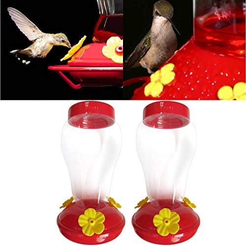 Maikouhai Wide Mouth Waist Hummingbird Feeder Free Nectar Patio Yard Window Bird Gifts (2 Pcs)