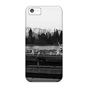 Excellent Iphone 5c Case Tpu Cover Back Skin Protector Nature Mountains The Silence