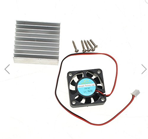 Original Hiland Heat Sink + Cooling Fan + Mounting Screws Kit For 0-30V 0-28V Universal Power (28v Kit)