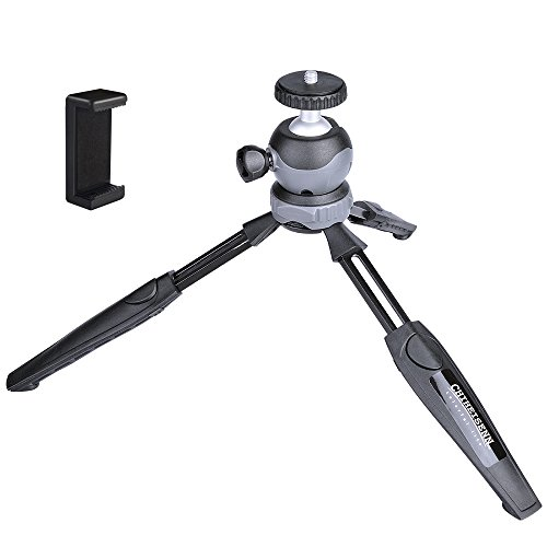 Chiheisenn Two Section Lightweight Compact Mini Desktop Tabletop Travel Tripod