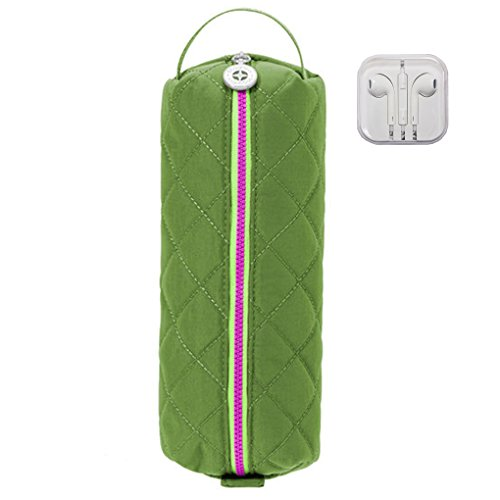 Baggallini Tech Pouch Electronic Cables Cords Pensils Travel Earphone Bundle (Green/Kiwi)