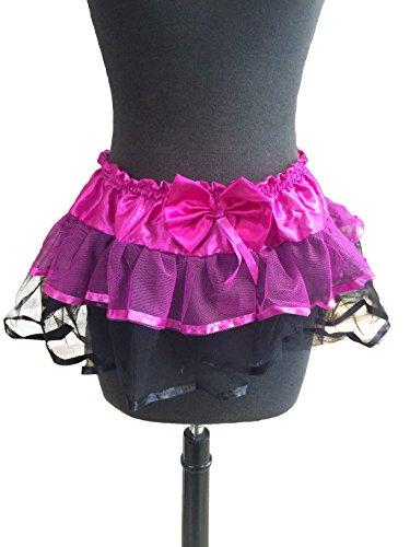Raveware Lingerie Women's Ruffle Petti, Pink/Black, One Size