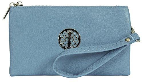 Pouch Mini Blue 5 Handbag Big Body Shoulder Cross Shop Vegan Womens Bag Purse Style Sky Leather xBUX0qXZp
